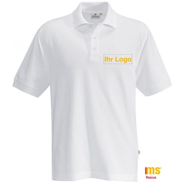 Poloshirt weiß, 100% Baumwolle